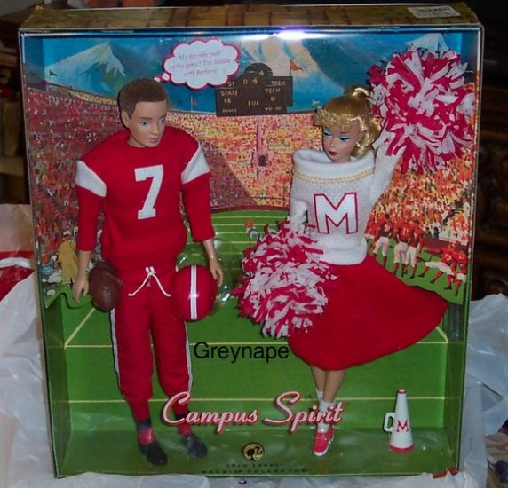Campus Spirit Barbie Doll and Ken Doll Giftset NRFB