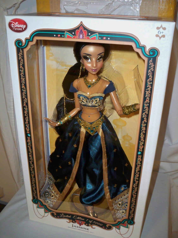 Disney Store Limited Edition Teal Jasmine Doll 17 Nrfb 2015