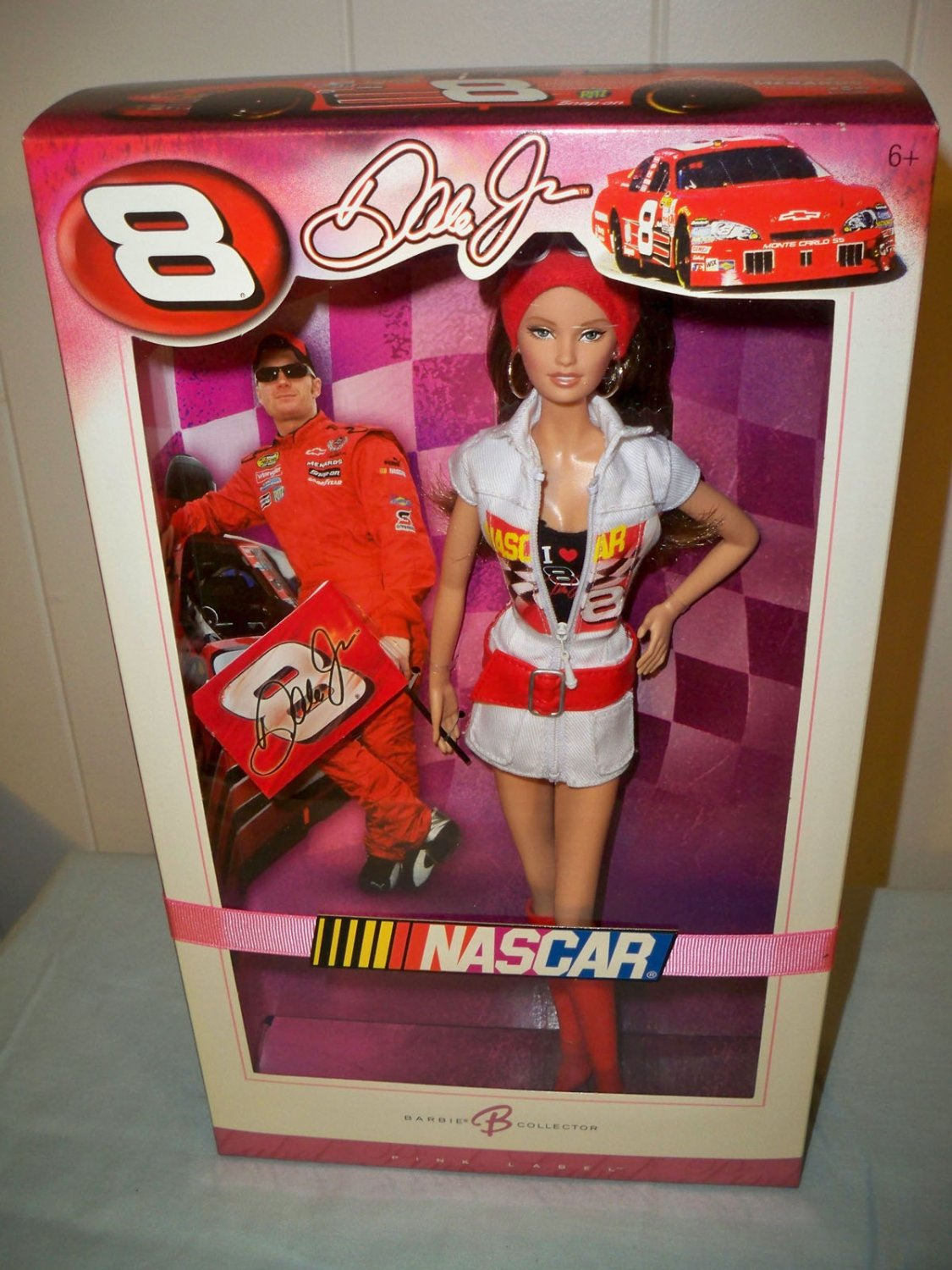 Dale Earnhardt, Jr, Barbie Doll # 8 NRFB Nascar Mattel