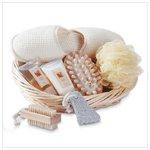 Spa Bath Set Slippers Basket