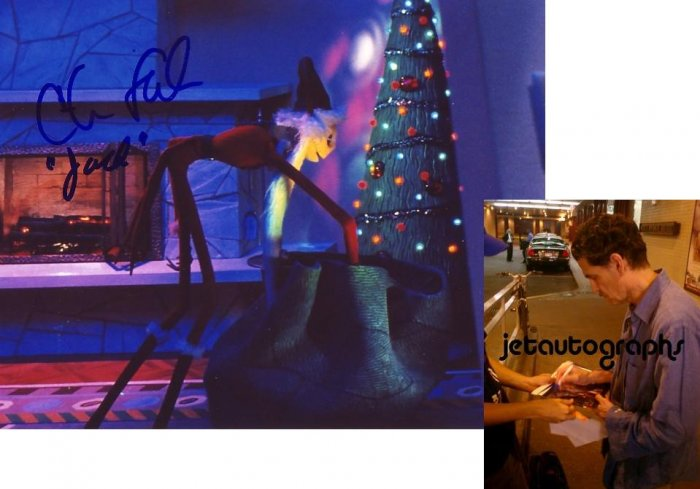 CHRIS SARANDON SIGNED THE NIGHTMARE BEFORE CHRISTMAS 8X10 PHOTO PIC PROOF
