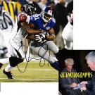 AMANI TOOMER SIGNED GIANTS 8X10 PHOTO PIC PROOF SIGNING