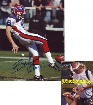 BRIAN MORMAN SIGNED BILLS 8X10 PHOTO PIC PROOF SIGNING