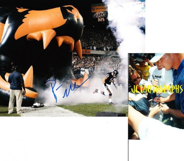BRIAN URLACHER SIGNED BEARS 8X10 PHOTO PIC PROOF SIGNING