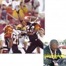 DELTHA O'NEAL SIGNED BENGALS 8X10 PHOTO PIC PROOF SIGNING