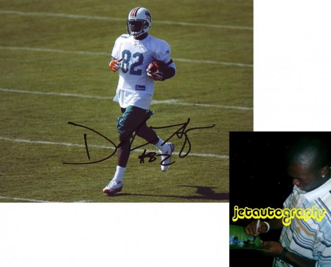 DEREK HAGEN SIGNED DOLPHINS 8X10 PHOTO PIC PROOF SIGNING