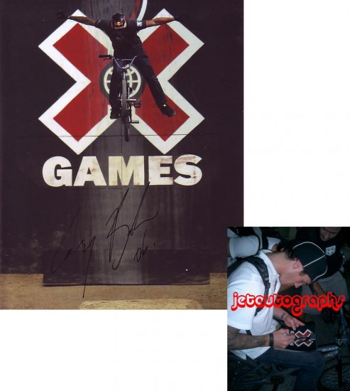 COREY BOHAN SIGNED BMX X GAMES 8X10 PHOTO PIC PROOF SIGNING