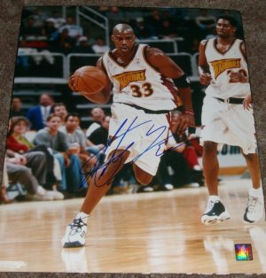 ANTAWN JAMISON SIGNED WARRIORS 16X20 PHOTO PIC PROOF SIGNING