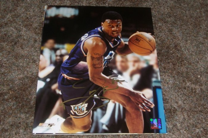 DESHAUN STEVENSON SIGNED JAZZ 11X14 PHOTO