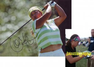 CHRISTINA KIM SIGNED LPGA 8X10 PHOTO PIC PROOF SIGNING