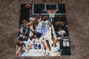 JERRY STACKHOUSE MAVERICKS SIGNED UNC TAR HEELS 11X14 PHOTO PIC PROOF SIGNING