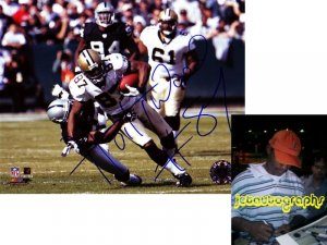 JOE HORN FALCONS SIGNED SAINTS 8X10 PHOTO PIC PROOF SIGNING