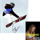 JAMIE ANDERSON SIGNED SIGNED WINTER X GAMES 8X10 PHOTO PIC PROOF SIGNING
