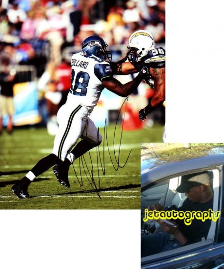 MARCUS POLLARD SIGNED SEAHAWKS 8X10 PHOTO PIC PROOF SIGNING