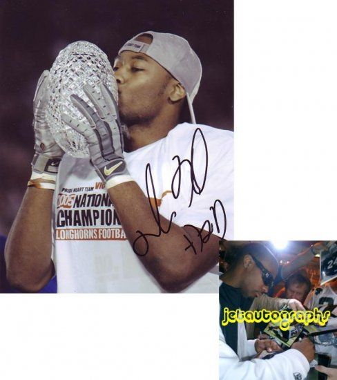 MICHAEL HUFF RAIDERS SIGNED LONGHORNS 8X10 PHOTO PIC PROOF SIGNING