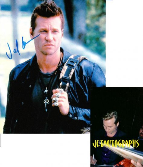 VAL KILMER SIGNED 8X10 PHOTO PIC PROOF SIGNING