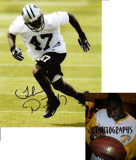 THOMAS DAVIS SIGNED PANTHERS 8X10 PHOTO PIC PROOF