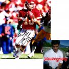 TRENT GREEN SIGNED CHIEFS 8X10 PHOTO PIC PROOF SIGNING
