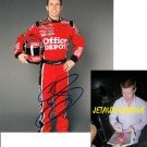 CARL EDWARDS SIGNED NASCAR 8X10 PHOTO PIC PROOF SIGNING