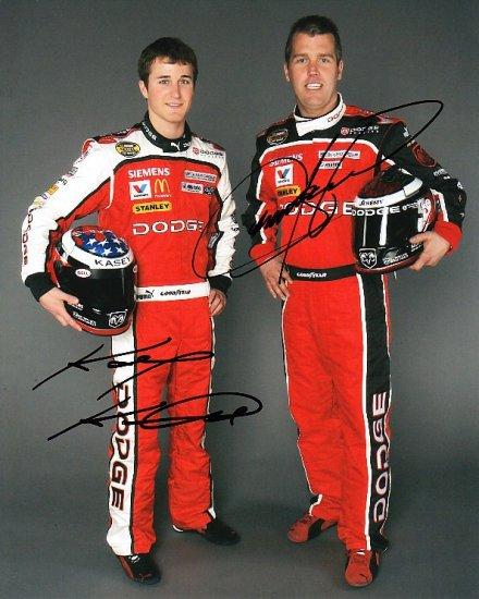 KASEY KAHNE JEREMY MAYFIELD SIGNED NASCAR 8X10 PHOTO PIC PROOF SIGNING