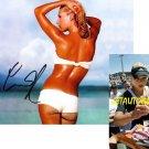 ANNA KOURNIKOVA SIGNED SUPER SEXY 8X10 PHOTO PIC PROOF