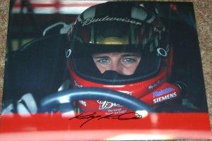KASEY KAHNE NASCAR SIGNED BUDWISIER 11X14 PHOTO PIC PROOF