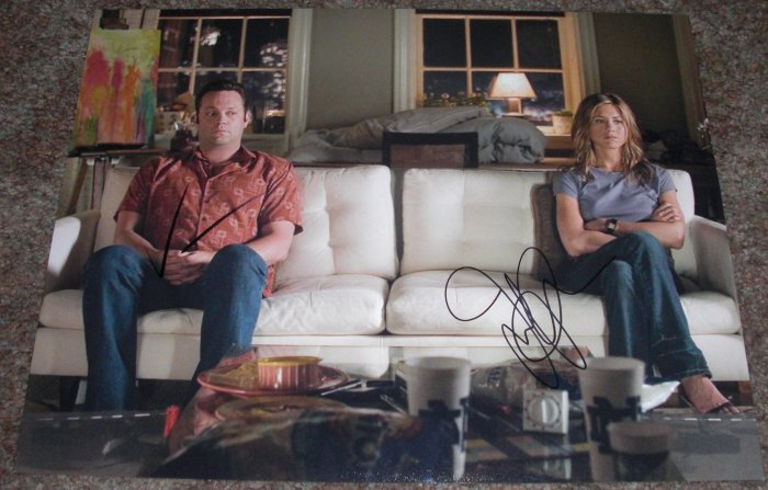 JENNIFER ANISTON VINCE VAUGHN SIGNED THE BREAK UP 11X14 PHOTO PIC PROOF