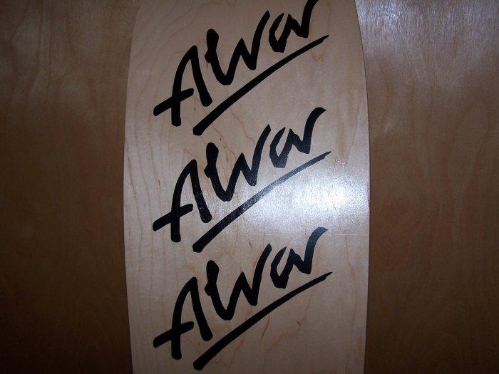 "ALVA ""TRI-LOGO"" SKATEBOARD DECK"