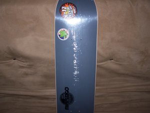 GREY MINI LOGO SKATEBOARD DECK
