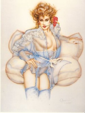 "Olivia de Berardinis O Card ""Antherium"" Pin-up Notecard with Envelope"