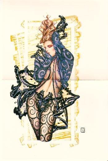 "Olivia de Berardinis O Card ""Breathless"" Pin-up Notecard with Envelope"