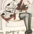 """Olivia de Berardinis O Card """"Pop Goes the Weasel"""" Pin-up Notecard with Envelope"""