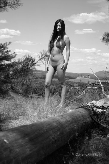 Pocohontas...Beautiful Oriental nude Outdoors!