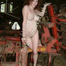 Hot red head in visits the farm