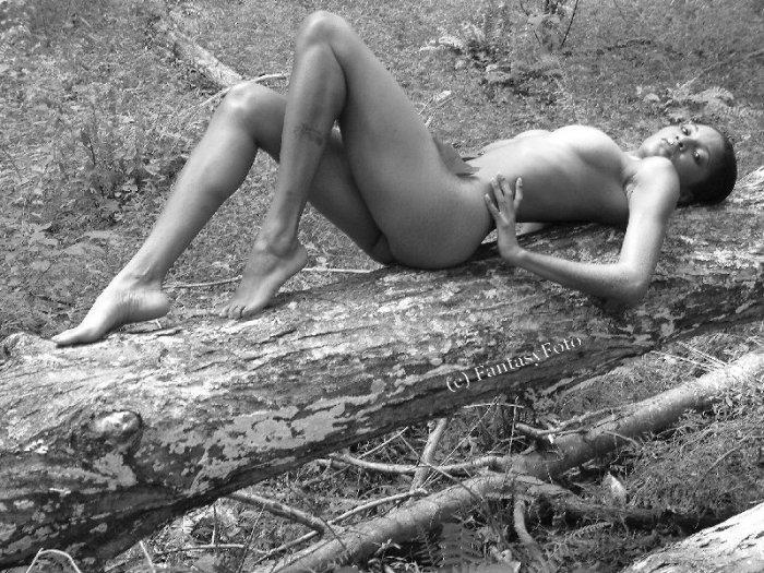 Hot Ebony Nude Screen Saver / photo
