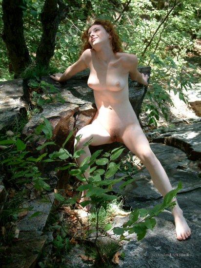 Hot naked Red Head nude posing... digital, Screensaver, print