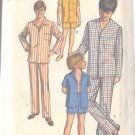 Simplicity 8860 Teen Boy Size 14  Pajamas 2 Lengths Uncut