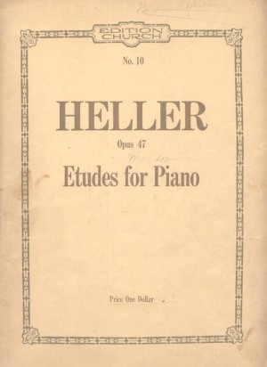 Heller Opus 47 Etudes for Piano Old Sheet Music
