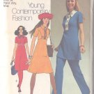 Simplicity 9502 Size 12 Misses Dress Jiffy Pattern 1971