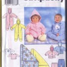 Simplicity Infant All Size Pattern Romper Jacket Pants Blanket and Top 1997 Uncut