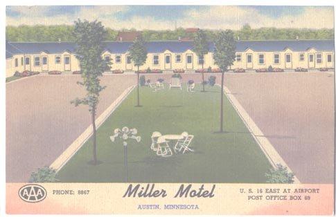 Miller Motel Austin Minnesota Unused Postcard