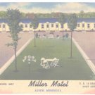 Miller Motel Austin Minnesota Unused Postcard