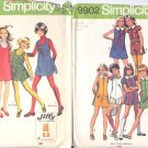 3 Simplicity Girls Size 8 Patterns Dress Pantdress Jumper Shorts