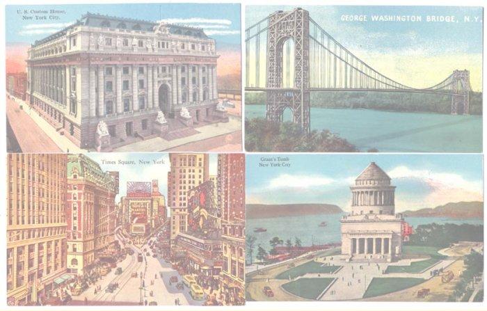 New York City New York 12 Postcards Buildings