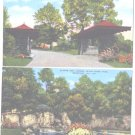 Linen Postcards Rockford IL Black Hawk Park Lagoon Entrance Unused