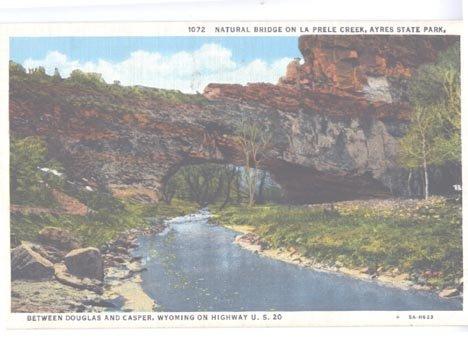 Wyoming Natural Bridge La Prele Creek Ayres State Park