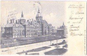 Johns Hopkins Hospital Postcard Baltimore MD 1909