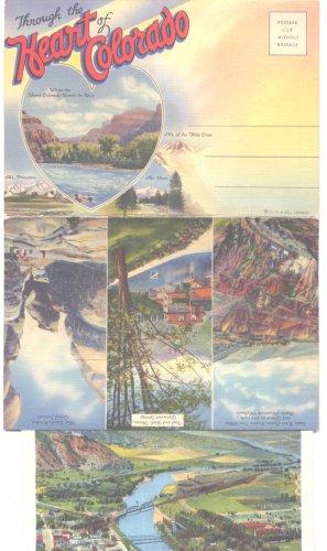 Heart of Colorado Glenwood Sprgs Grand Junction Pikes Peak Souvenir Folders