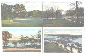 8 Vintage Postcards Rock Island IL Illinois