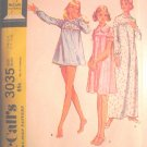 McCall Pattern Misses Size 12-14 Nightgown